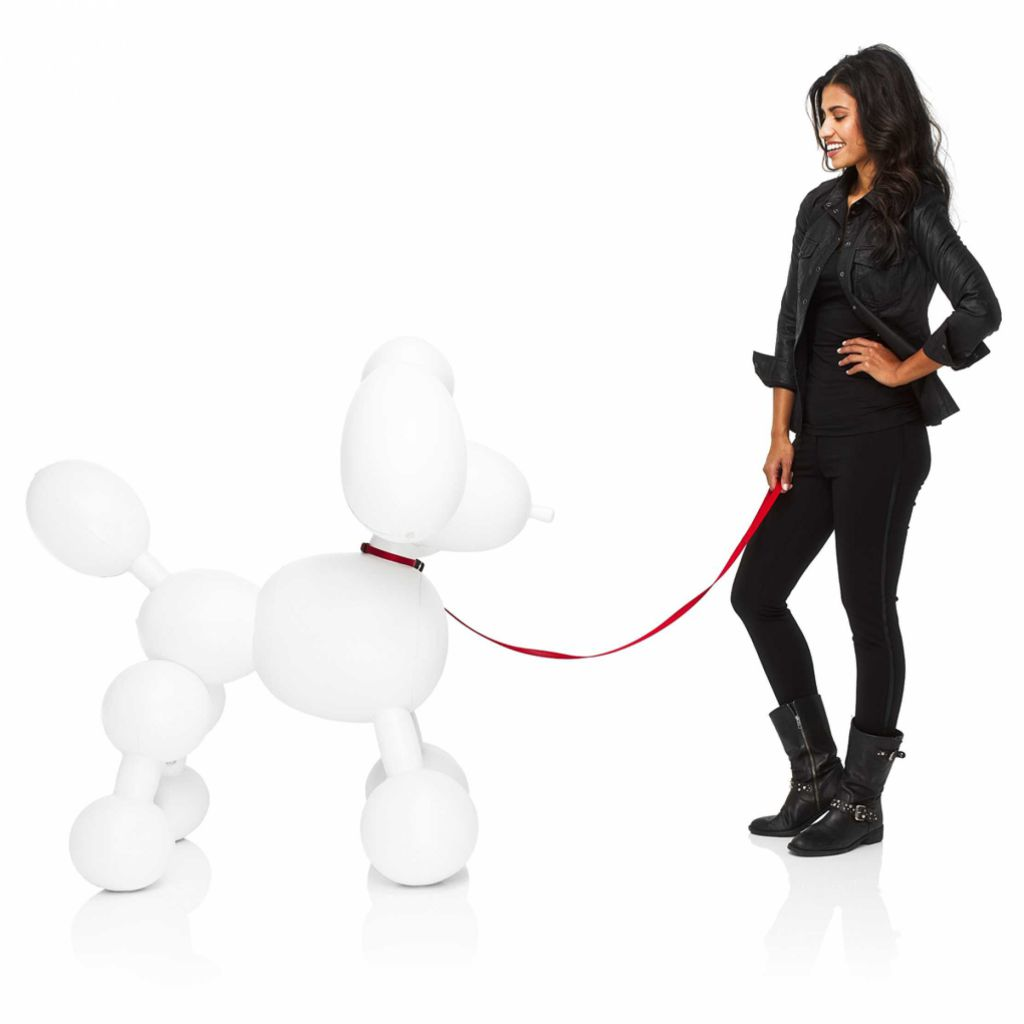 CHIEN DOLLY GONFLABLE - Blanc