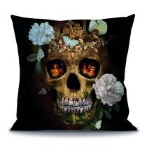 Coussin Skull Memento Mori - 40 x 40 cm - La Ligne 29