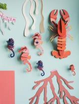 Décoration mural les Hippocampes - studio ROOF