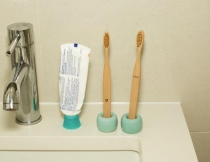 Duo de brosse à dents bambou - Kikkerland