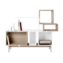 ETAGERE STACKED SMALL MUUTO BIBLIOTHEQUE MEUBLE TV MODULE COMPOSABLE OKXO