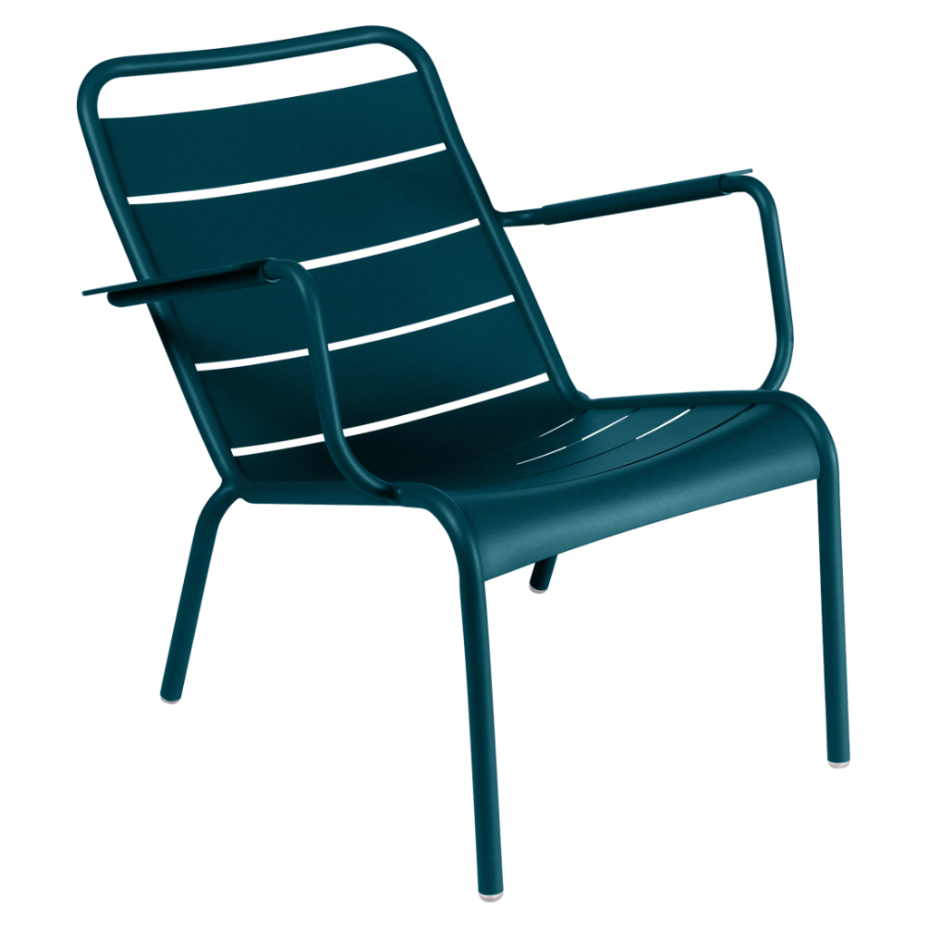 Fauteuil bas Luxembourg - Fermob - Bleu acapulco