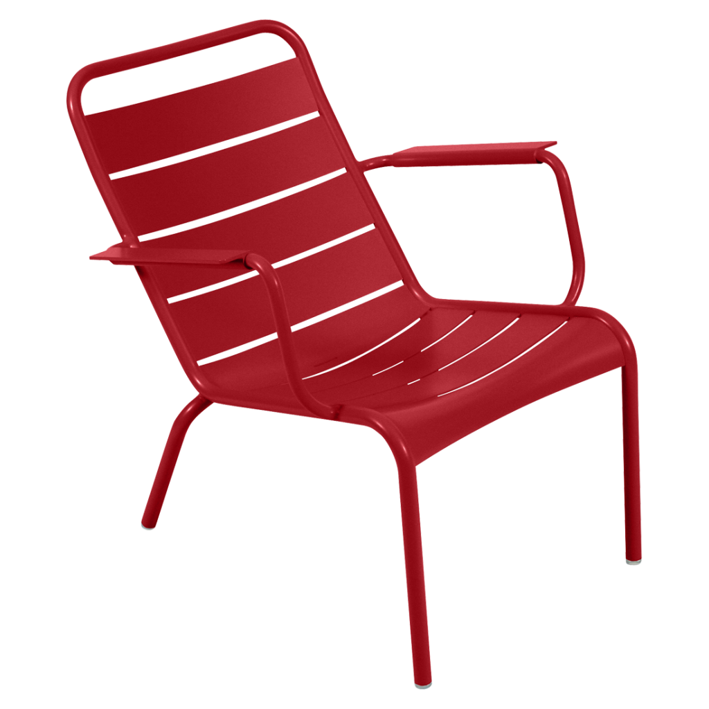 Fauteuil bas Luxembourg - Fermob - Coquelicot