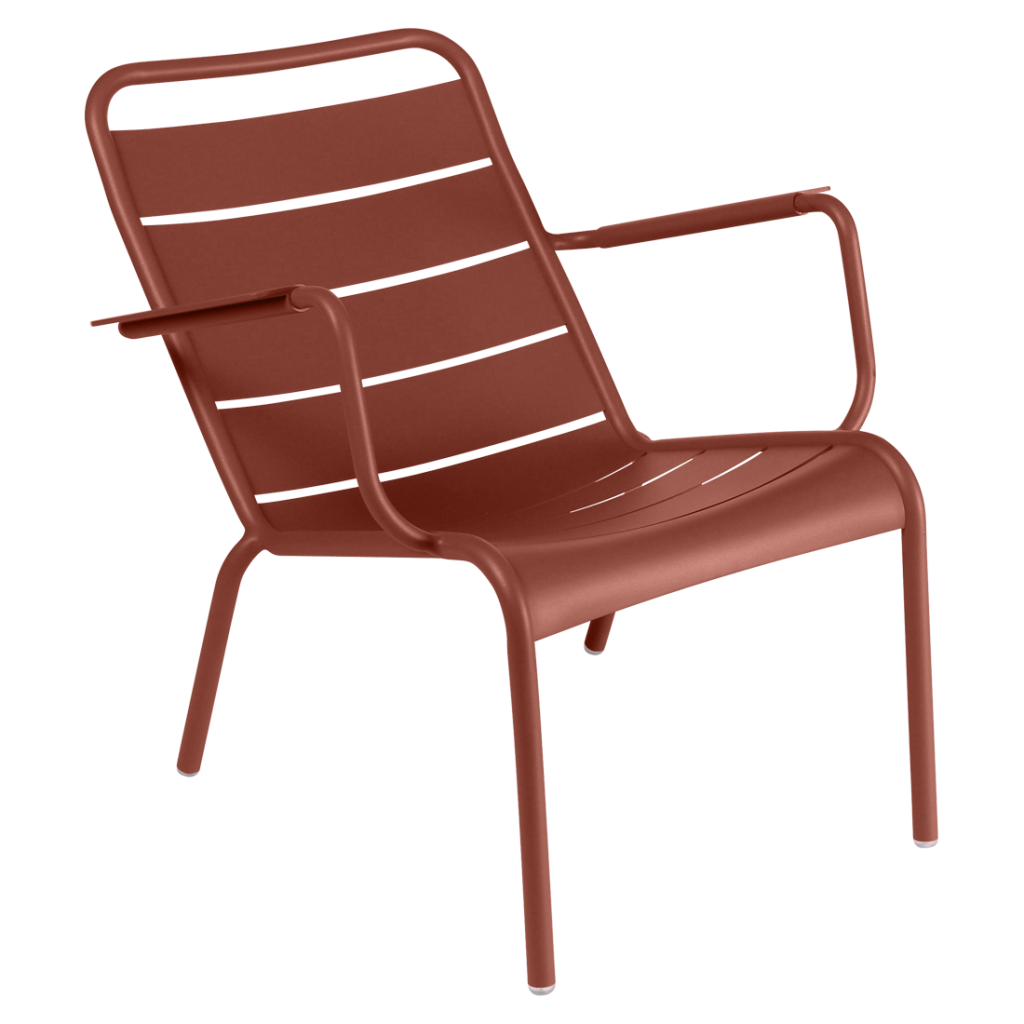 Fauteuil bas Luxembourg - Fermob - Ocre rouge