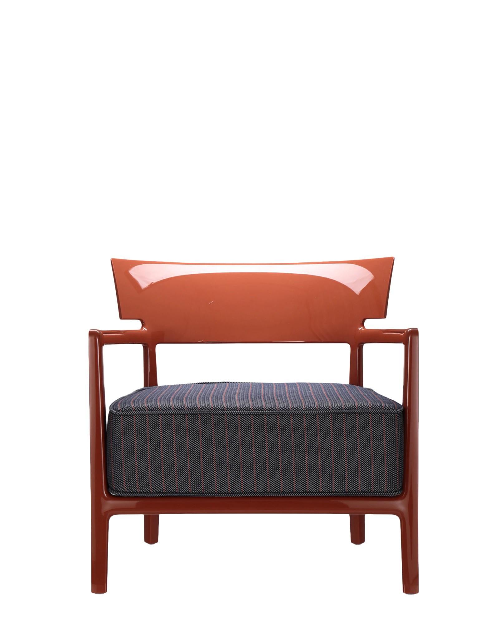 Fauteuil CARA Rouge Orangé / Bleu Orange - Kartell