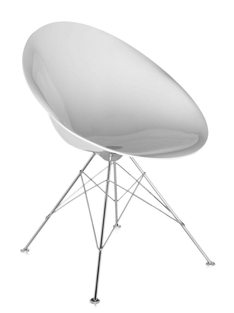 FAUTEUIL EROS - 4 pieds - Blanc brillant