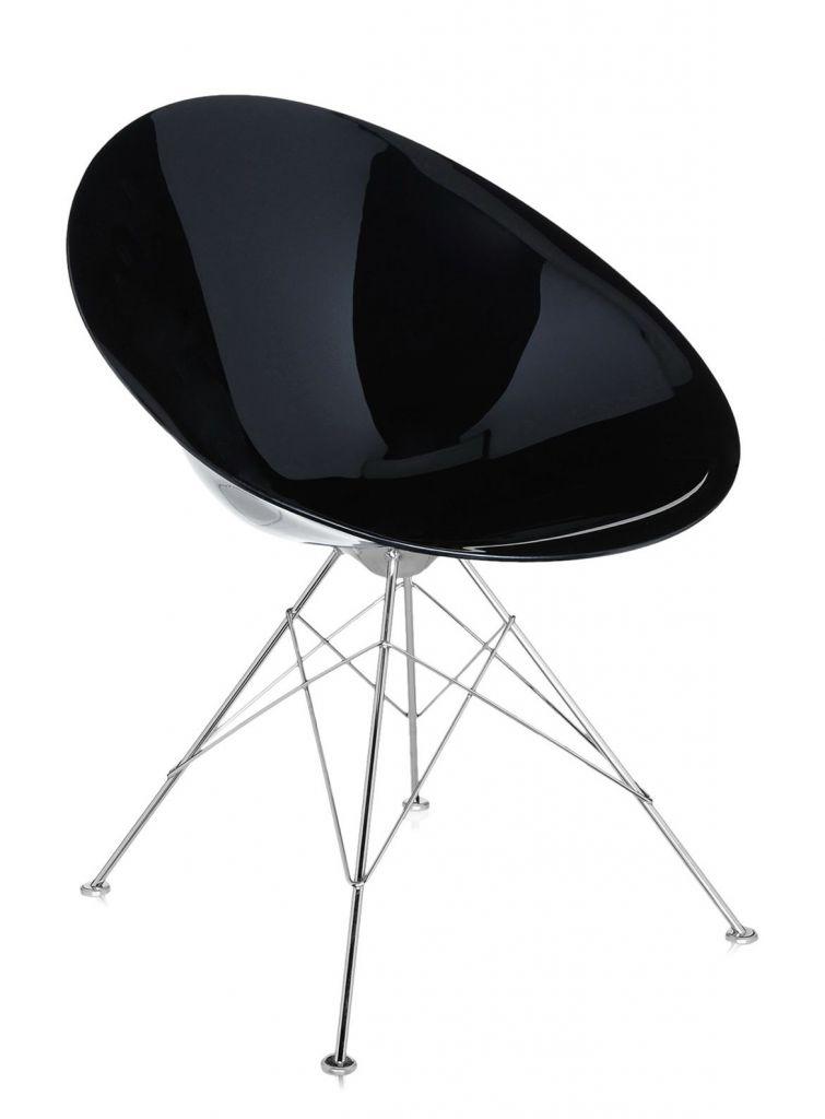 Fauteuil Eros - 4 pieds - Kartell - Noir brillant