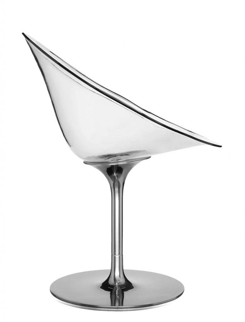 Fauteuil Eros - Pied tulipe - Kartell - Cristal