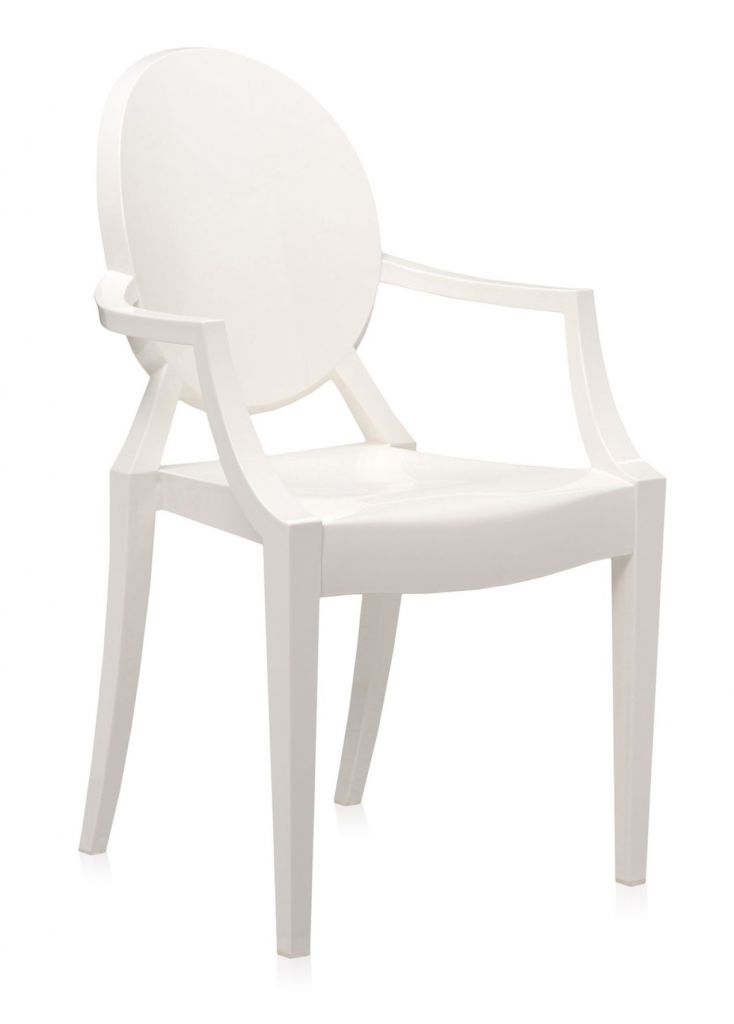 Lot de 2 fauteuils Louis Ghost - Kartell - Blanc brillant