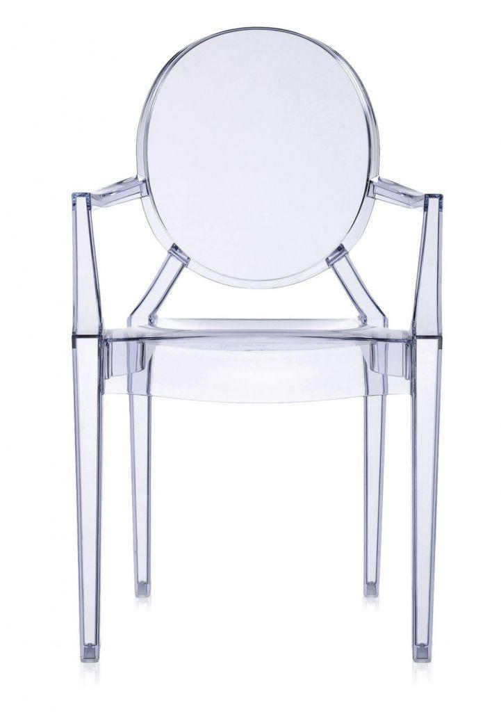 Lot de 2 fauteuils Louis Ghost - Kartell - Bleu ciel