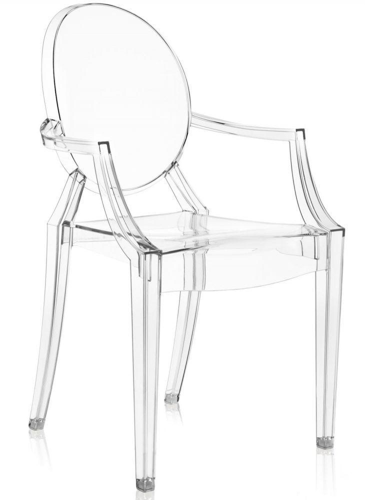 Lot de 4 fauteuils Louis Ghost - Cristal - Kartell
