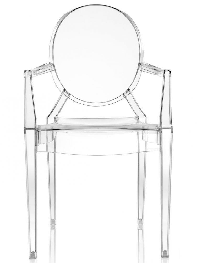 Lot de 4 fauteuils Louis Ghost - Cristal - Kartell