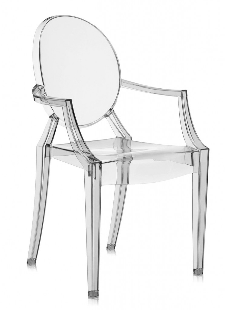 Lot de 2 fauteuils Louis Ghost - Kartell - Fumé