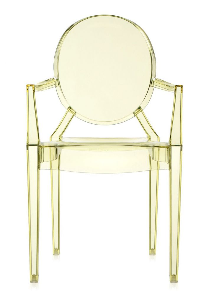 Lot de 2 fauteuils Louis Ghost - Kartell - Jaune