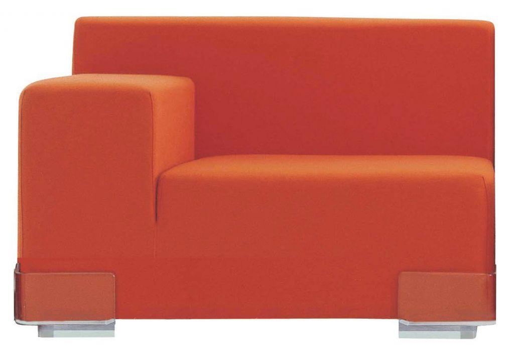 FAUTEUIL PLASTICS - Accoudoir droit - Orange