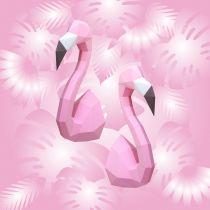 FLAMAND ROSE EN ORIGAMI - Rose