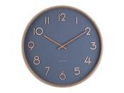 Horloge Pure medium bleu