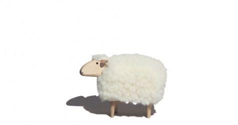 """JOUET MOUTON BLANC \""""SHEEP\"""" - Tete droite"""