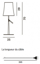 LAMPE A POSER BIRDIE GRANDE