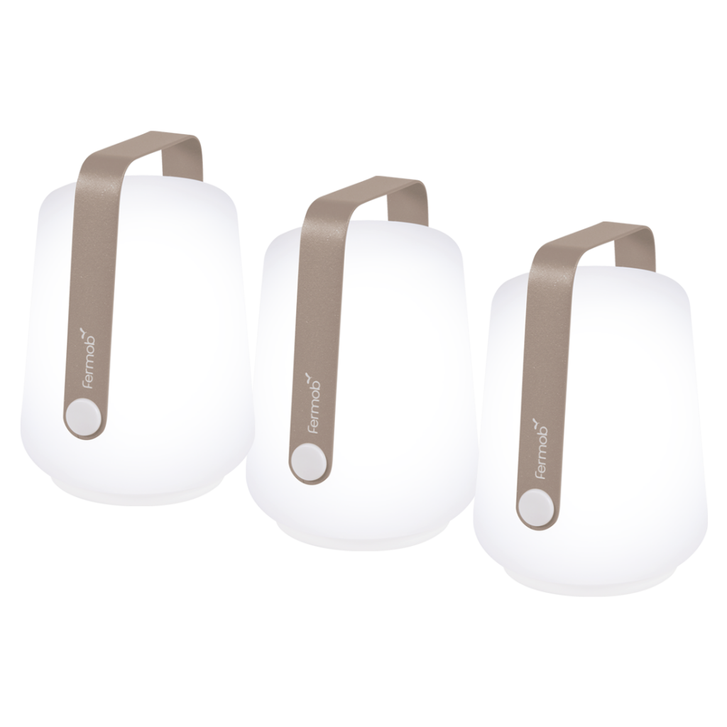 Lot de 3 lampes rechargeable Balad H12 - Fermob - Muscade