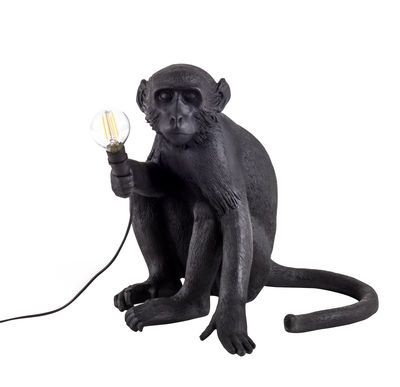 LAMPE DE TABLE MONKEY - Assis blanc