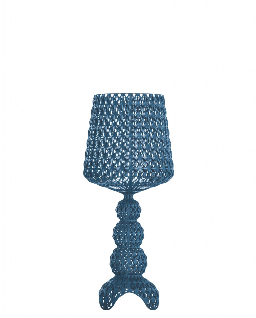 Lampe de table Mini Kabuki - Kartell - Bleu
