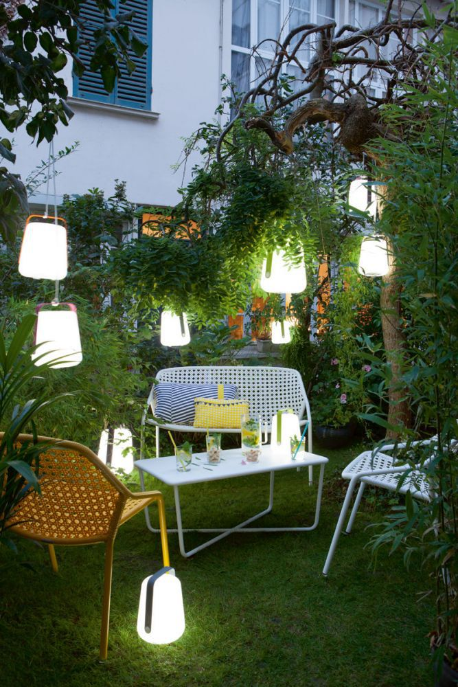 LAMPE RECHARGEABLE BALAD BALADEUSE LAMPE SANS FIL JARDIN OUTDOOR FERMOB OKXO