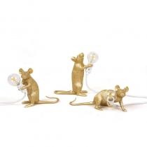 Lampe Mouse - Souris debout doré - Seletti