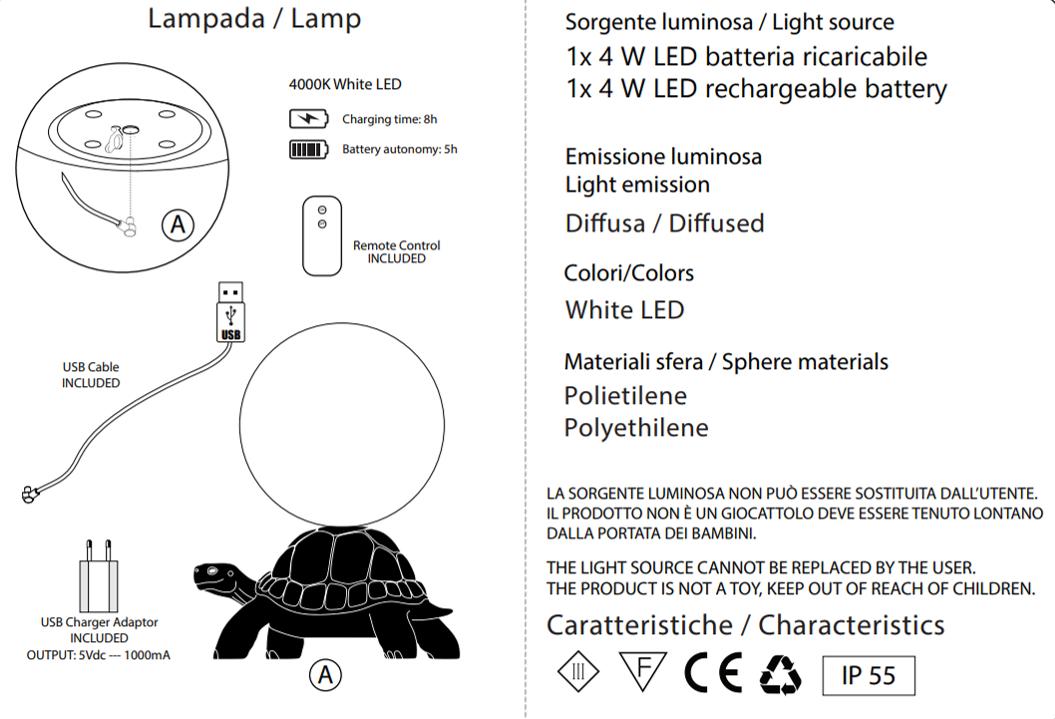 Lampe Tortue - QEEBOO