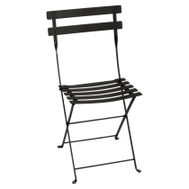 LOT DE 2 CHAISES BISTRO METAL - Cèdre