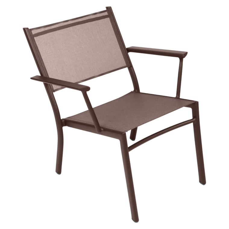 LOT DE 2 FAUTEUILS BAS COSTA - Rouille