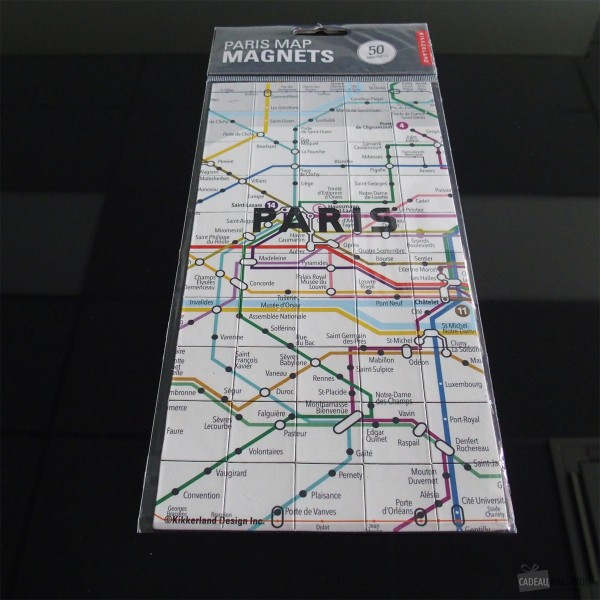 Map magnets Paris - KIKKERLAND