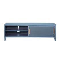 Meuble TV Tolix made in France. Un meuble de télévision design style industriel marqué.