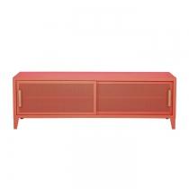 Meuble TV Tolix made in France. Un meuble de télévision design style industriel marqué. Le B2 bas Tolix vous est présenté en corail