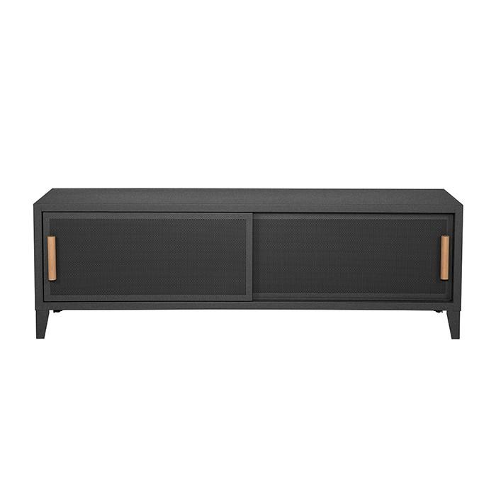 Meuble TV Tolix made in France. Un meuble de télévision design style industriel marqué. Le B2 bas Tolix vous est présenté en graphite