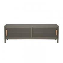 Meuble TV Tolix made in France. Un meuble de télévision design style industriel marqué. Le B2 bas Tolix vous est présenté en gris de Paris
