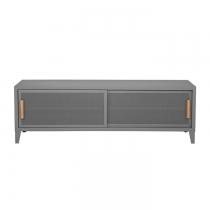 Meuble TV Tolix made in France. Un meuble de télévision design style industriel marqué. Le B2 bas Tolix vous est présenté en gris souris