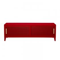 Meuble TV Tolix made in France. Un meuble de télévision design style industriel marqué. Le B2 bas Tolix vous est présenté en piment