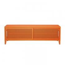 Meuble TV Tolix made in France. Un meuble de télévision design style industriel marqué. Le B2 bas Tolix vous est présenté en potimarron