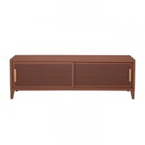 Meuble TV Tolix made in France. Un meuble de télévision design style industriel marqué. Le B2 bas Tolix vous est présenté en rouille fauve