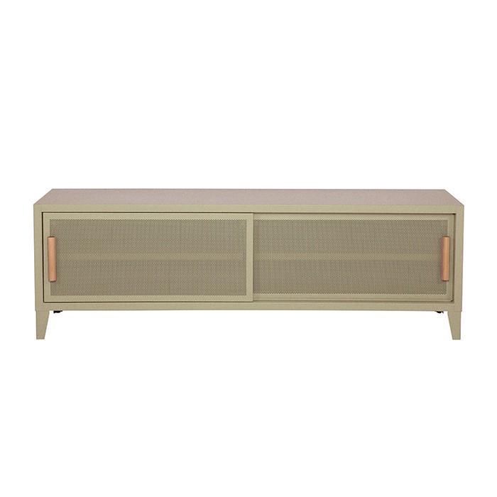Meuble TV Tolix made in France. Un meuble de télévision design style industriel marqué. Le B2 bas Tolix vous est présenté en sable