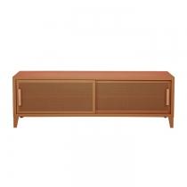 Meuble TV Tolix made in France. Un meuble de télévision design style industriel marqué. Le B2 bas Tolix vous est présenté en terracota