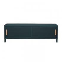 Meuble TV Tolix made in France. Un meuble de télévision design style industriel marqué. Le B2 bas Tolix vous est présenté en vert empire
