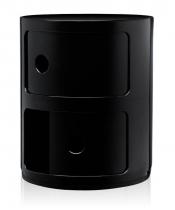 Sobre et élégant découvrez le componibili noir brillant de la marque Kartell en plastique très résistant.