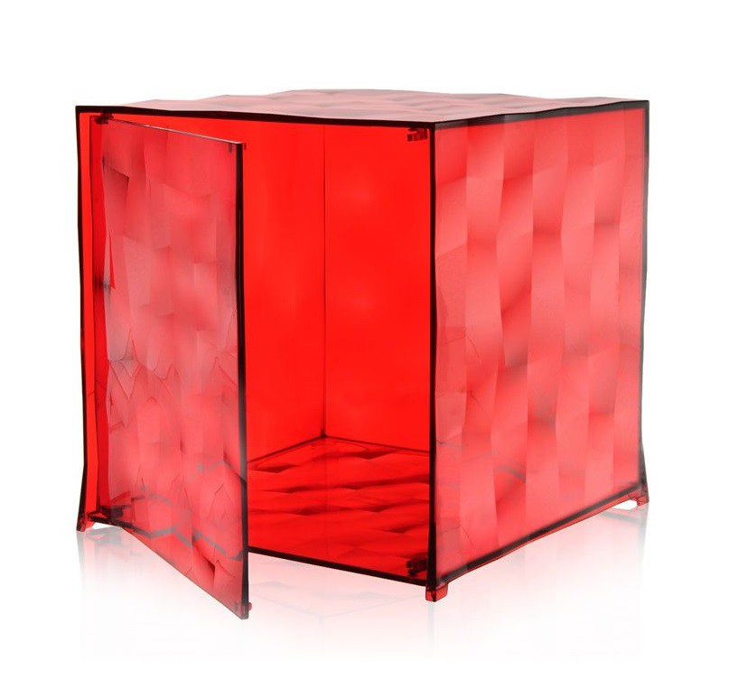 Meuble Optic - Avec porte - Kartell - Rouge