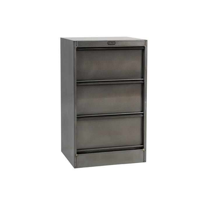 Petit meuble de stockage de type industriel de la marque Tolix