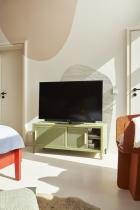 Meuble TV Hi-Fi design 120cm - Tolix vert olive