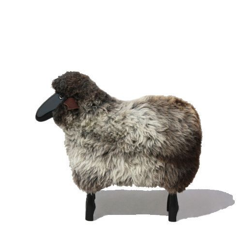 "MOUTON GRIS ""SHEEP\"" H80 - Tete droite"