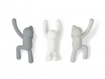 Set de 3 patères Buddy - Degradé gris - Umbra