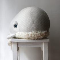 Peluche Baleine Albino - Bigstuffed